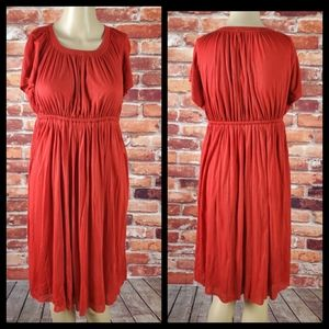 Susana Monaco Red Babydoll Dress Size Small
